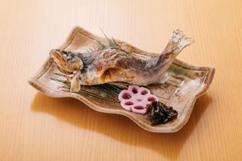 山女魚塩焼き