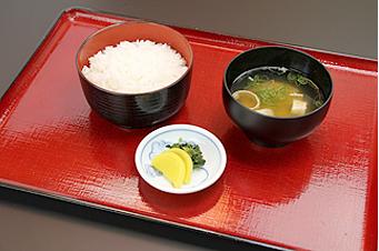 御飯セット(味噌汁、漬物付)