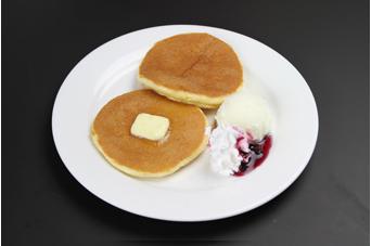 パンケーキ バニラアイス添え